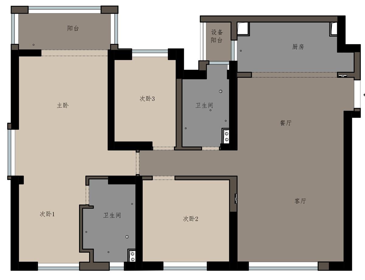 长江路9号150㎡现代简约装修风格装修设计理念