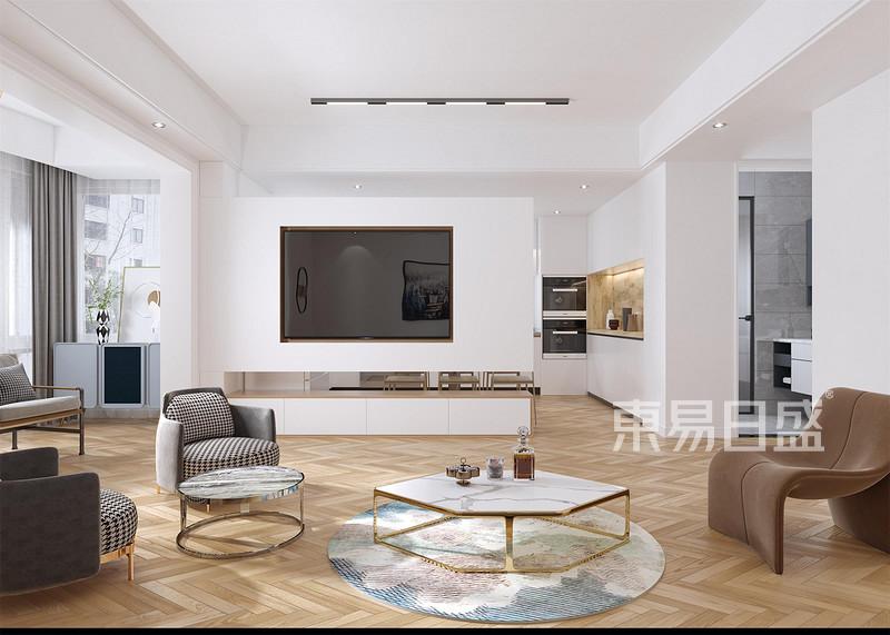在福州客厅装修设计中如何增加空间收纳-福州装修公司东易日盛