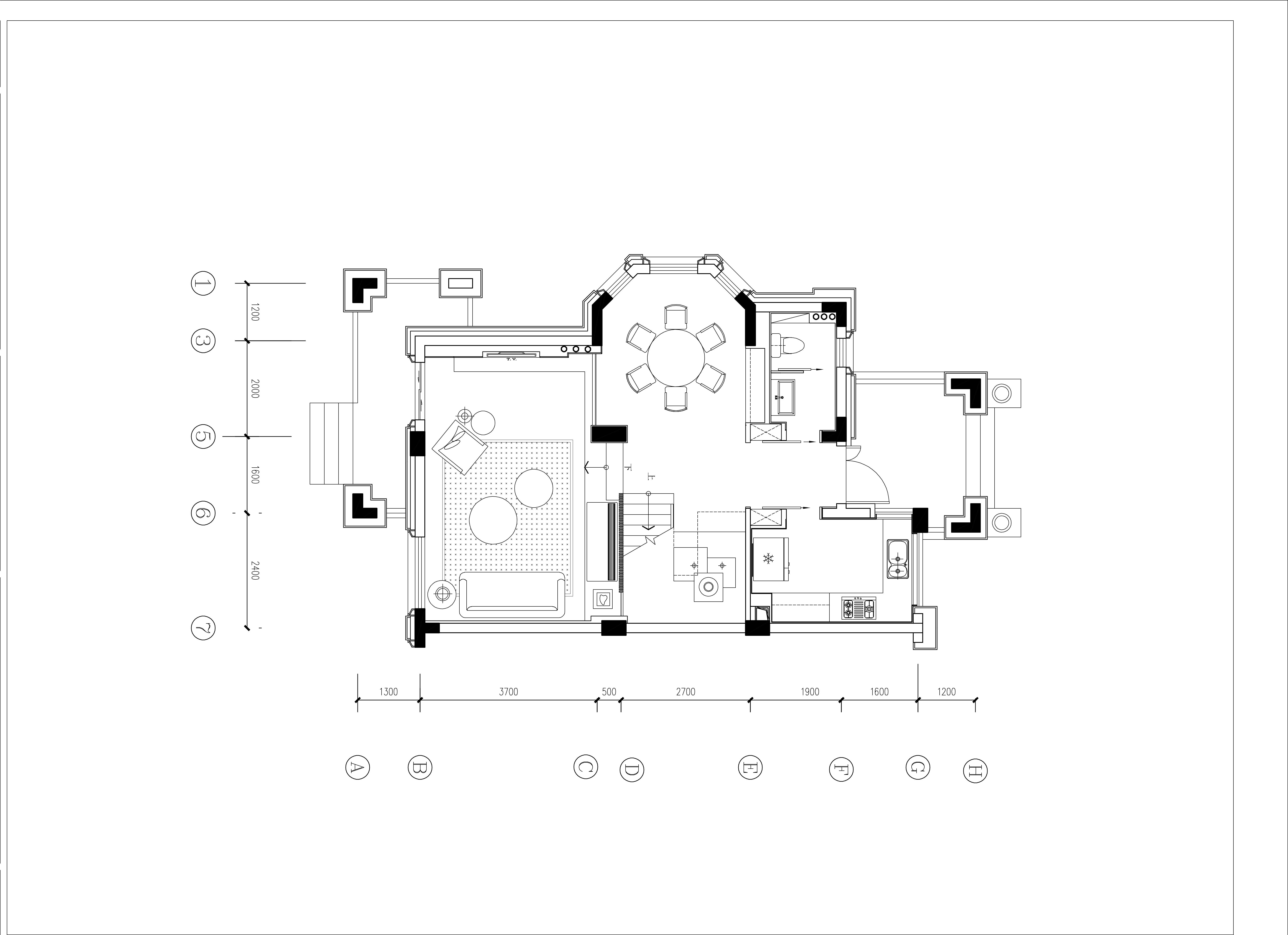 白龙桥-190㎡-现代风格装修设计理念