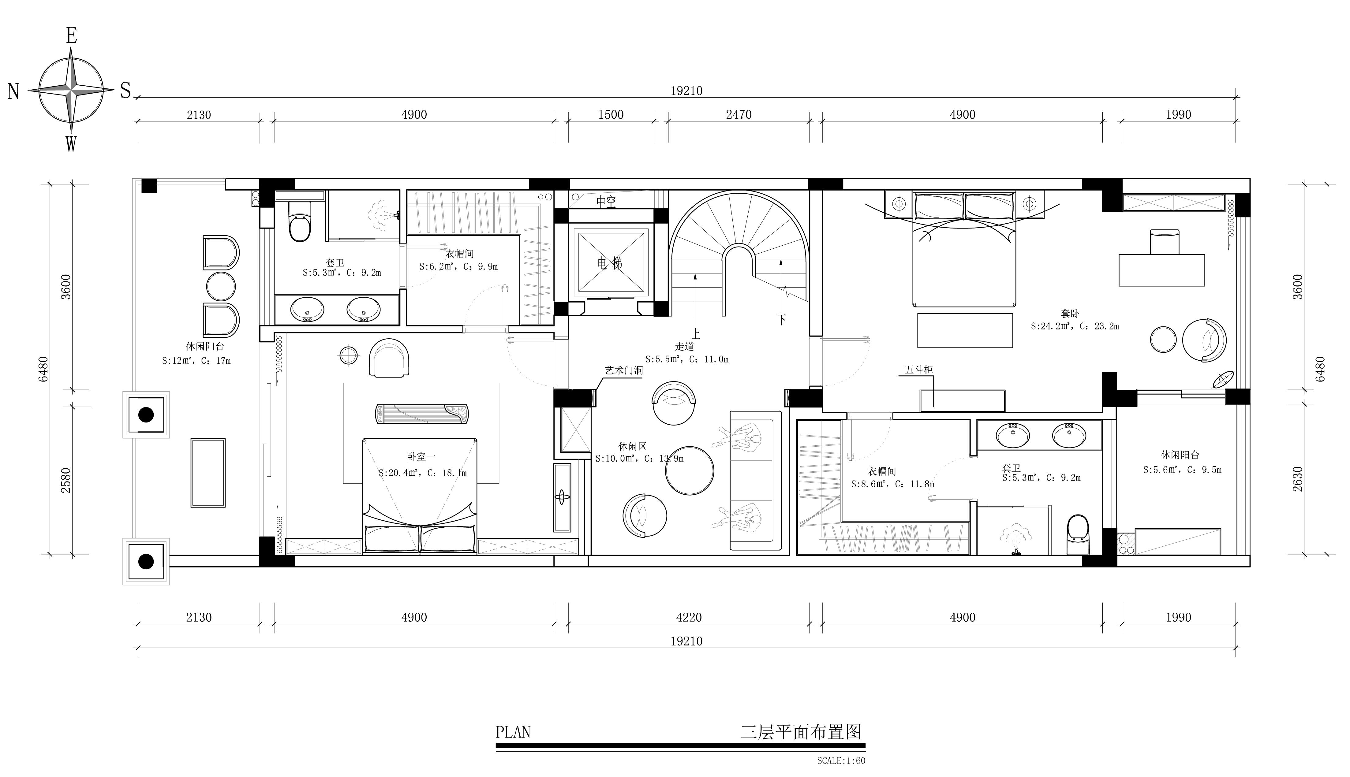 振业城680㎡-新中式风格案例-别墅高端装修效果图展示装修设计理念