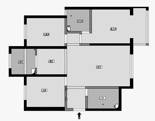 东城佳苑 132平米现代美式风格装修效果图案例装修设计理念
