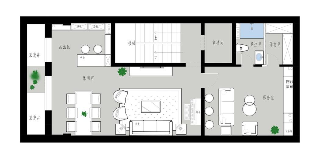 泰禾一号院-400平米-新中式风格装修效果图装修设计理念