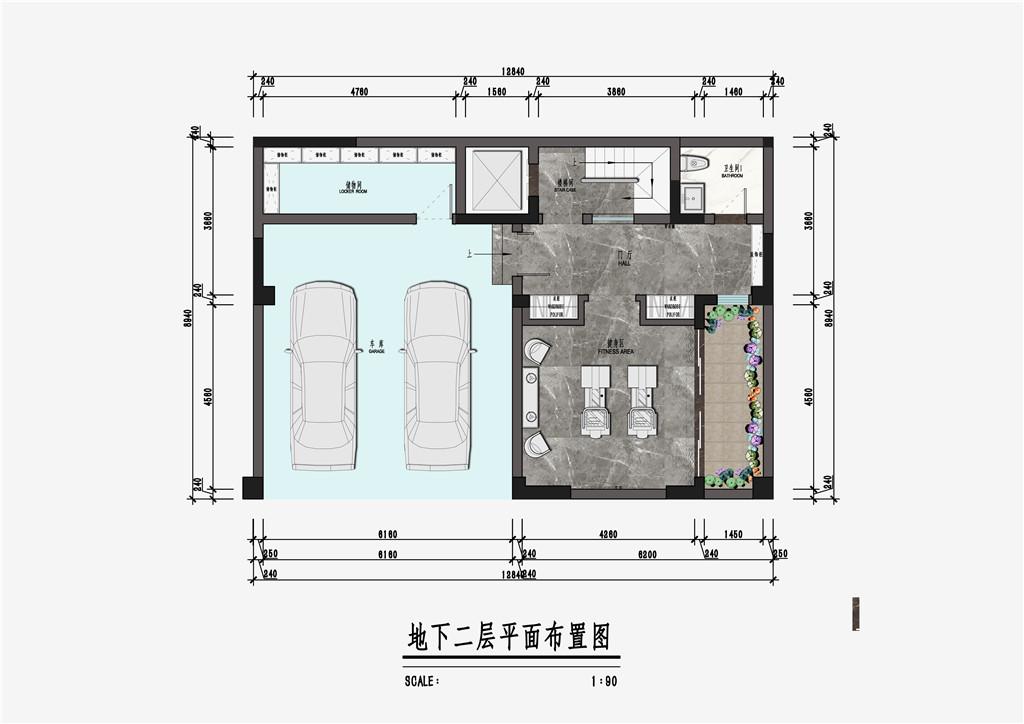 杭州院子法式风格195㎡意向图装修设计理念