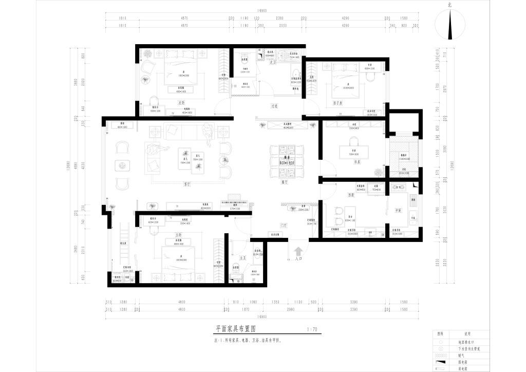 香山四季-183㎡-中式装修设计理念