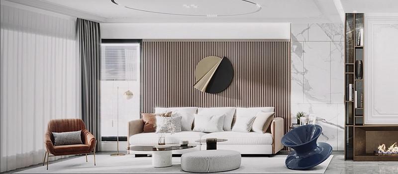 中信泰富滨江国际金融城-127平米装修-轻奢风格装修效果图