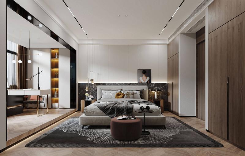 深圳五居室怎么装修设计?现代轻奢200平装修效果图