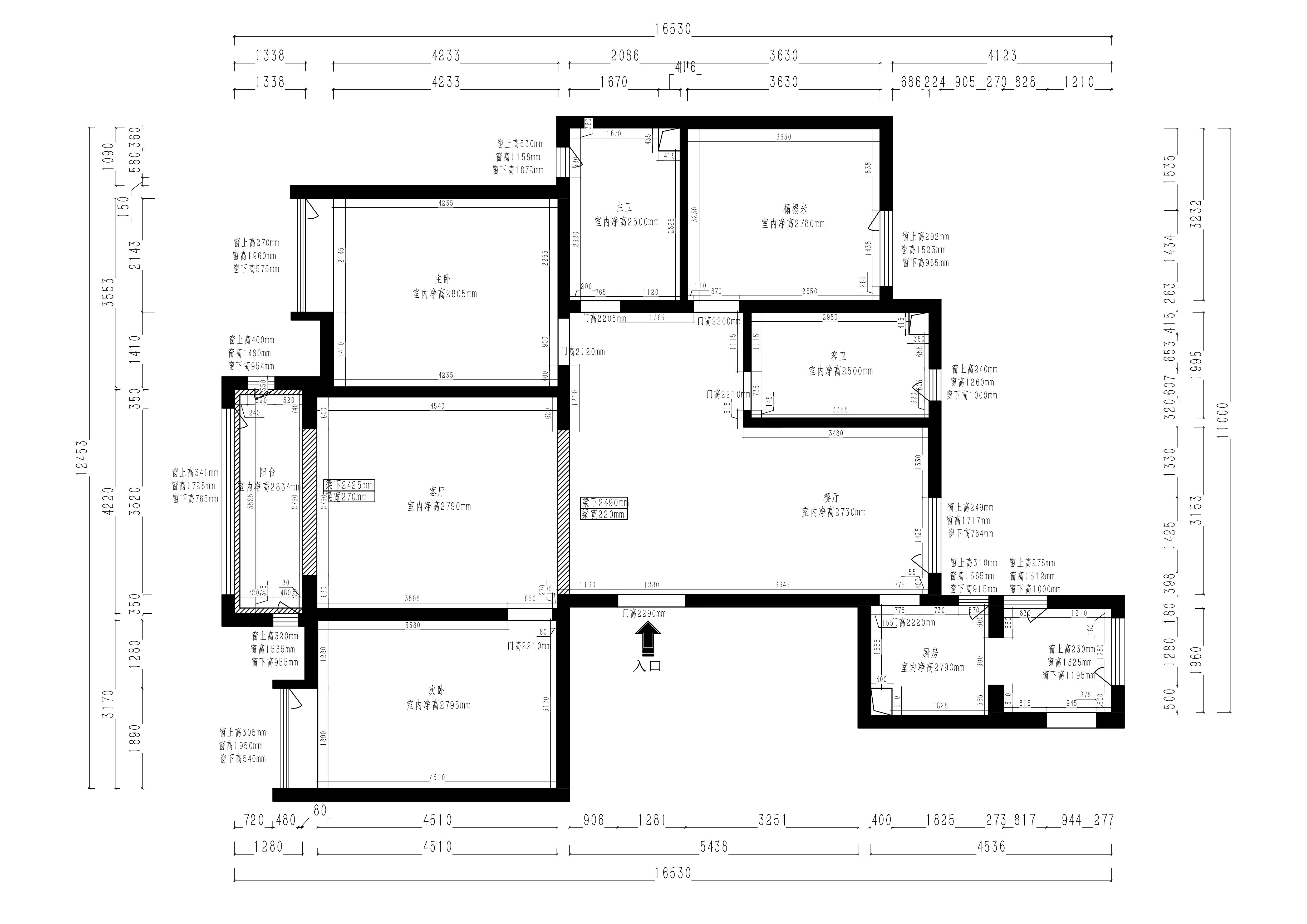 首开国风琅樾 轻奢风格装修效果图 165平三室两厅装修案例装修设计理念