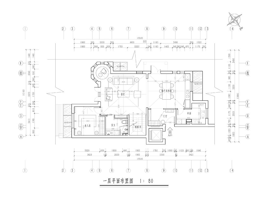 天恒乐墅280㎡联排别墅现代装修风格效果图装修设计理念