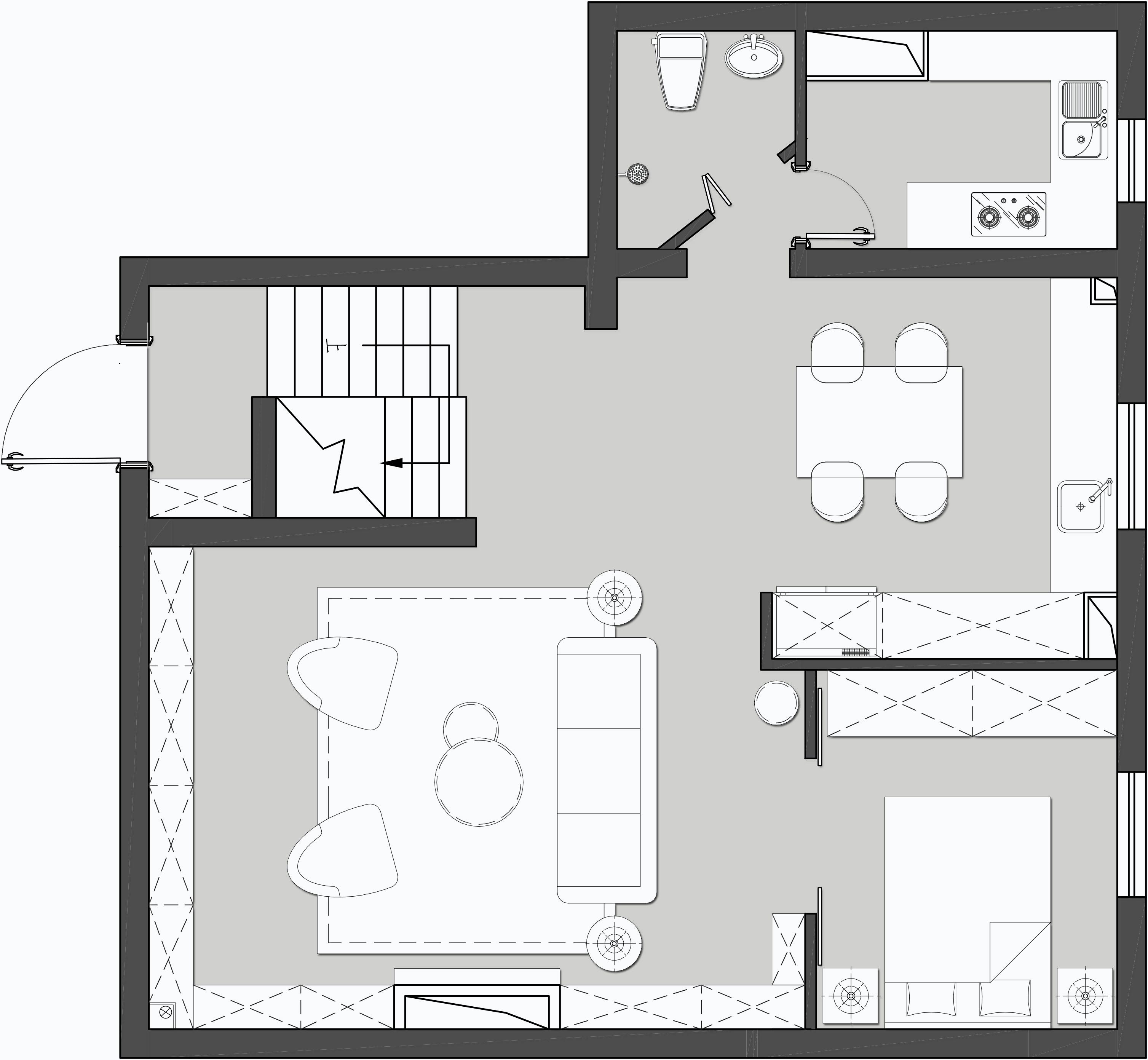 欧陆经典-120平米-现代美式风格装修案例装修设计理念