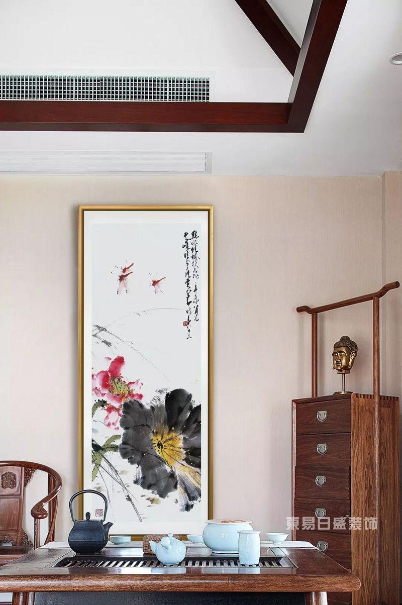 中式装修背景墙字画