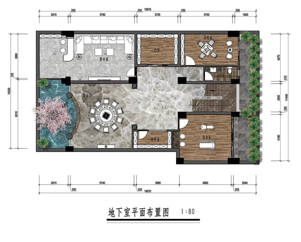 贺州钟山锦绣嘉园-869㎡法式别墅装修效果图装修设计理念