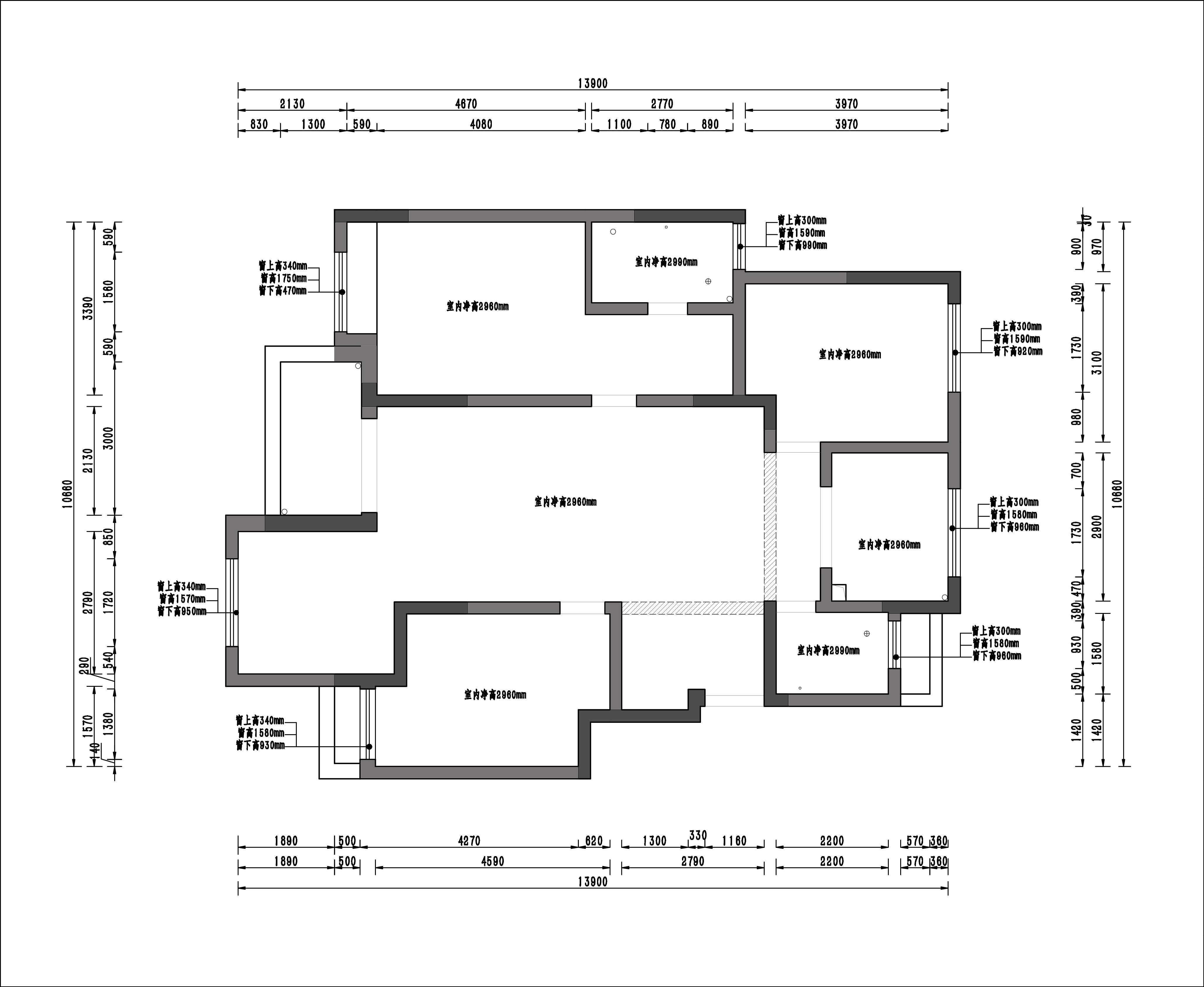 鹭山湖130㎡洋房新中式风格装修效果图装修设计理念