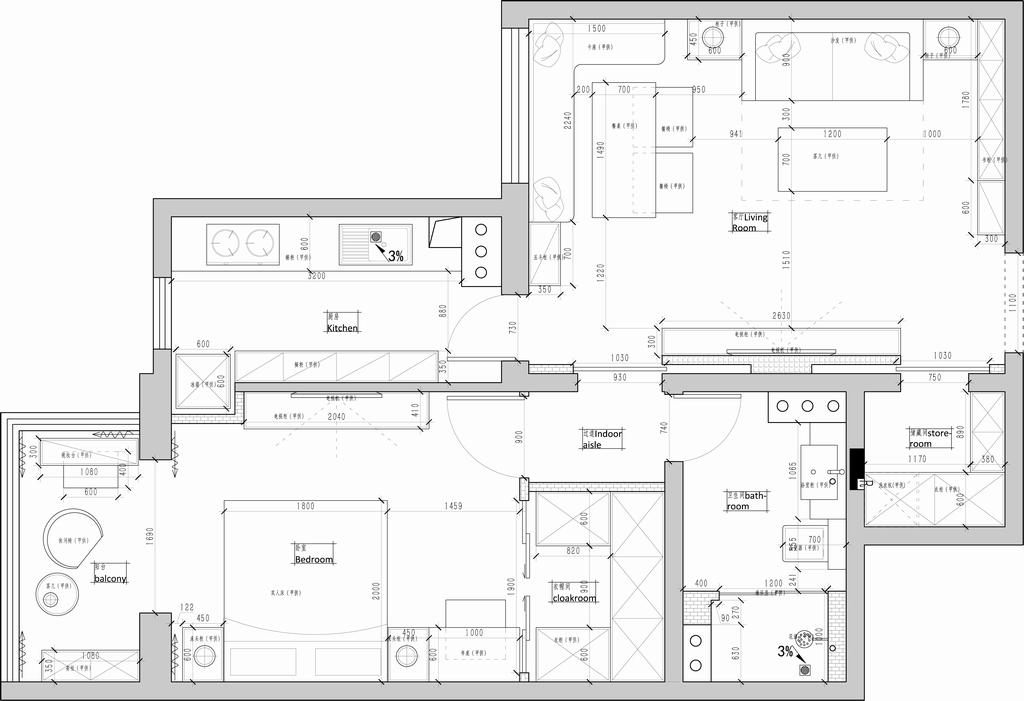 银领国际-简欧-95平米装修设计理念