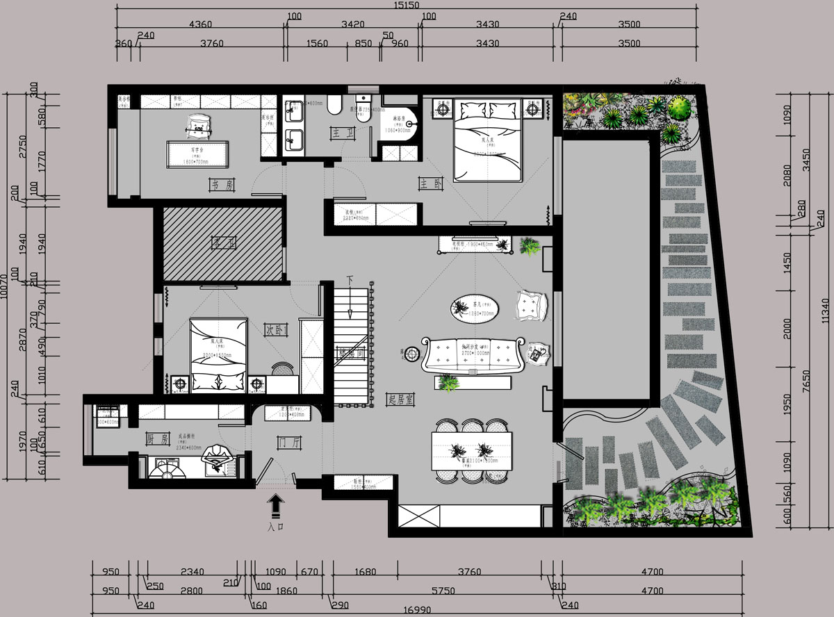 花语墅  美式乡村  210m²  跃层装修装修设计理念