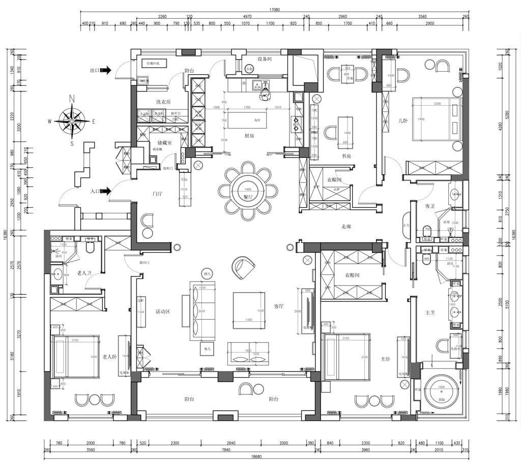 艮山府280㎡现代轻奢风格效果图装修设计理念