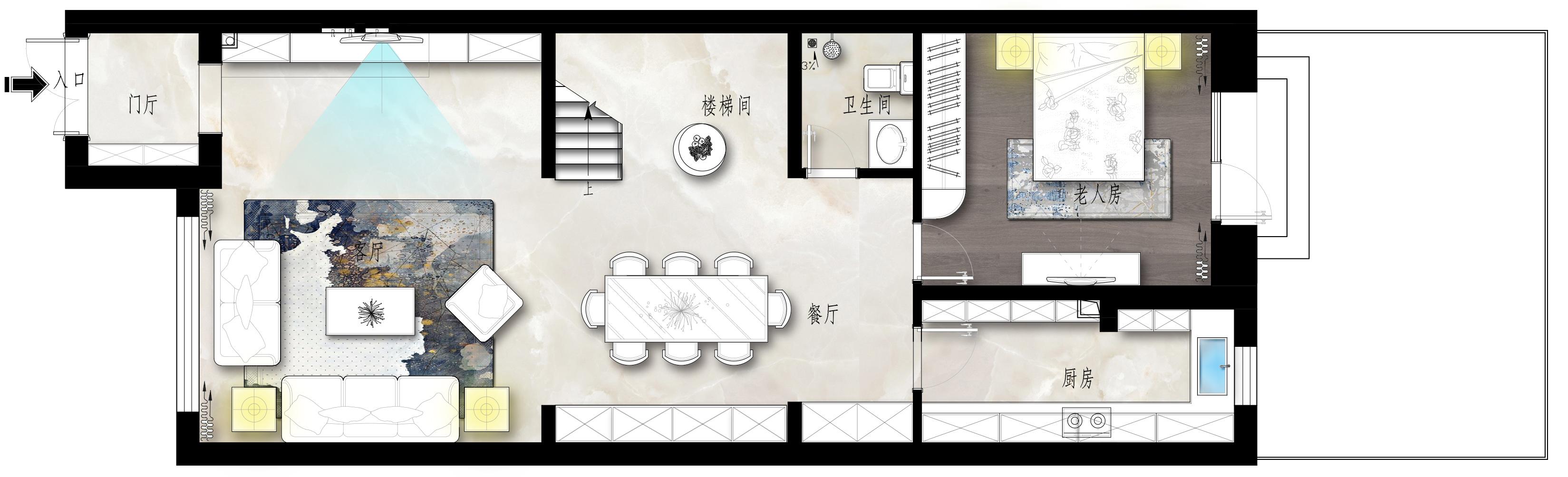 八达岭孔雀城-新中式-360㎡装修设计理念