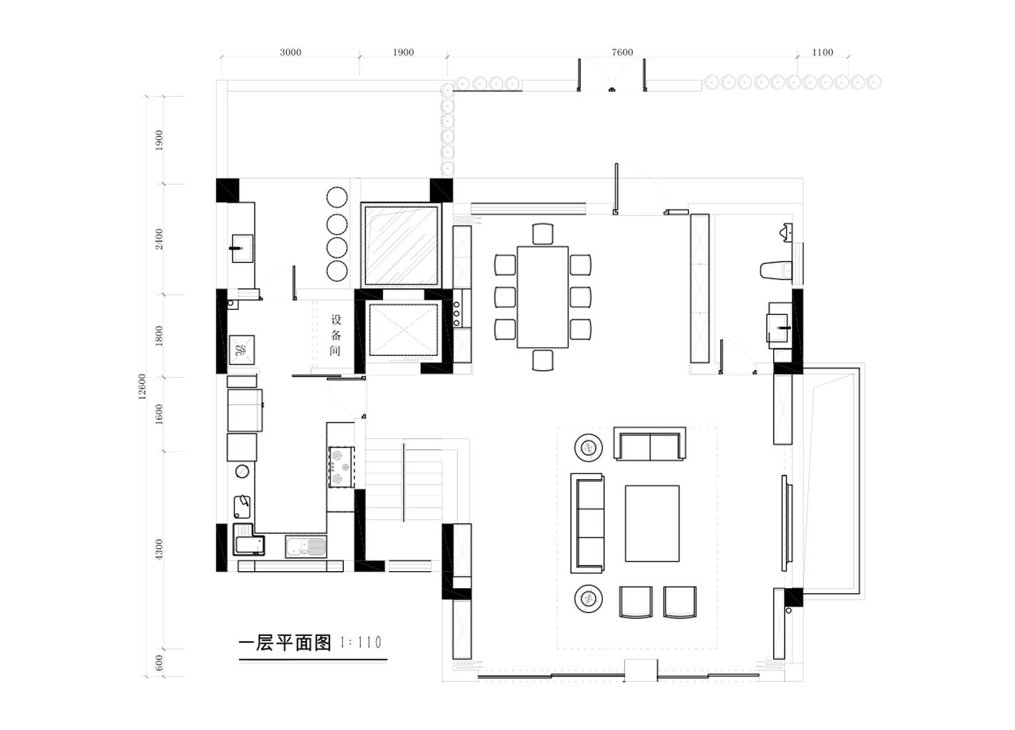 东逸湾380平米现代轻奢风格平层装修效果图装修设计理念
