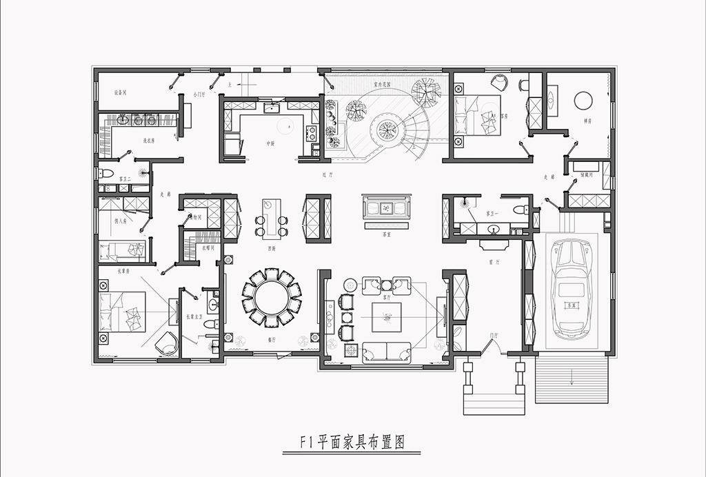 465平米设计案例 新中式装修效果图装修设计理念