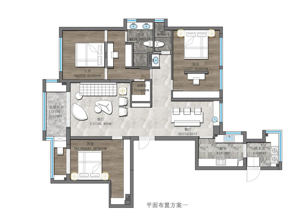华发外滩首府168平米意式轻奢风格装修效果图装修设计理念