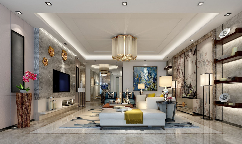 深圳200平米四室装修设计案例效果图,琳琅雅致