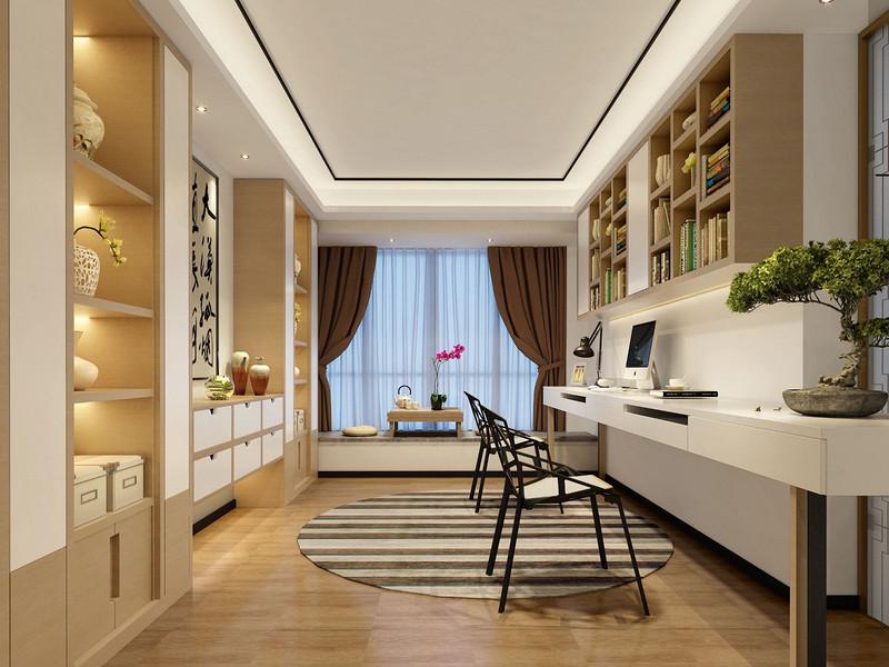 深圳220平米四室装修案例效果图,雅韵新中式