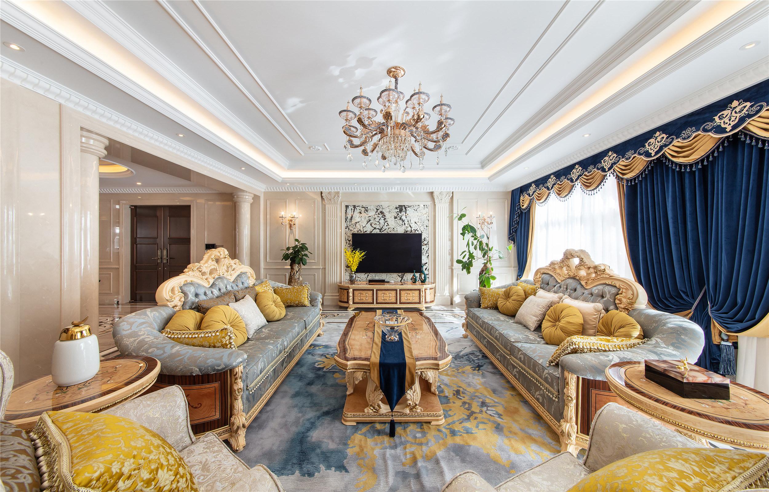滇池ONE580平米别墅欧式风格装修实景图装修设计理念