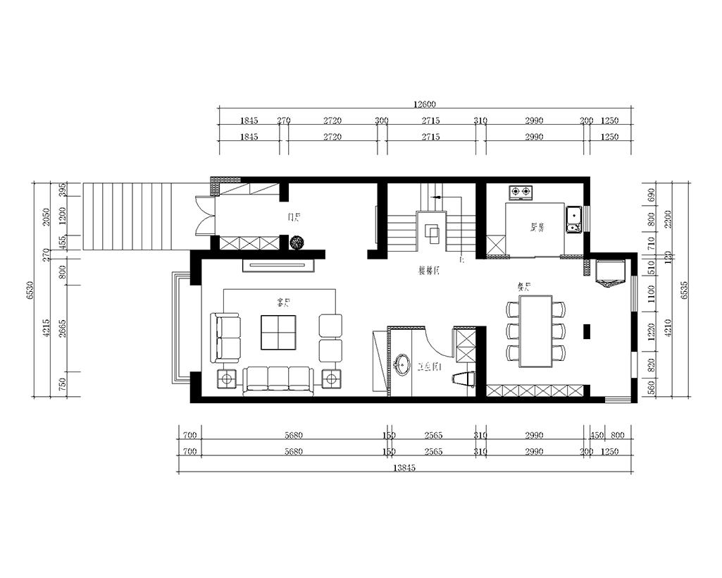 鸿翔花园300平新中式联排别墅装修效果图装修设计理念