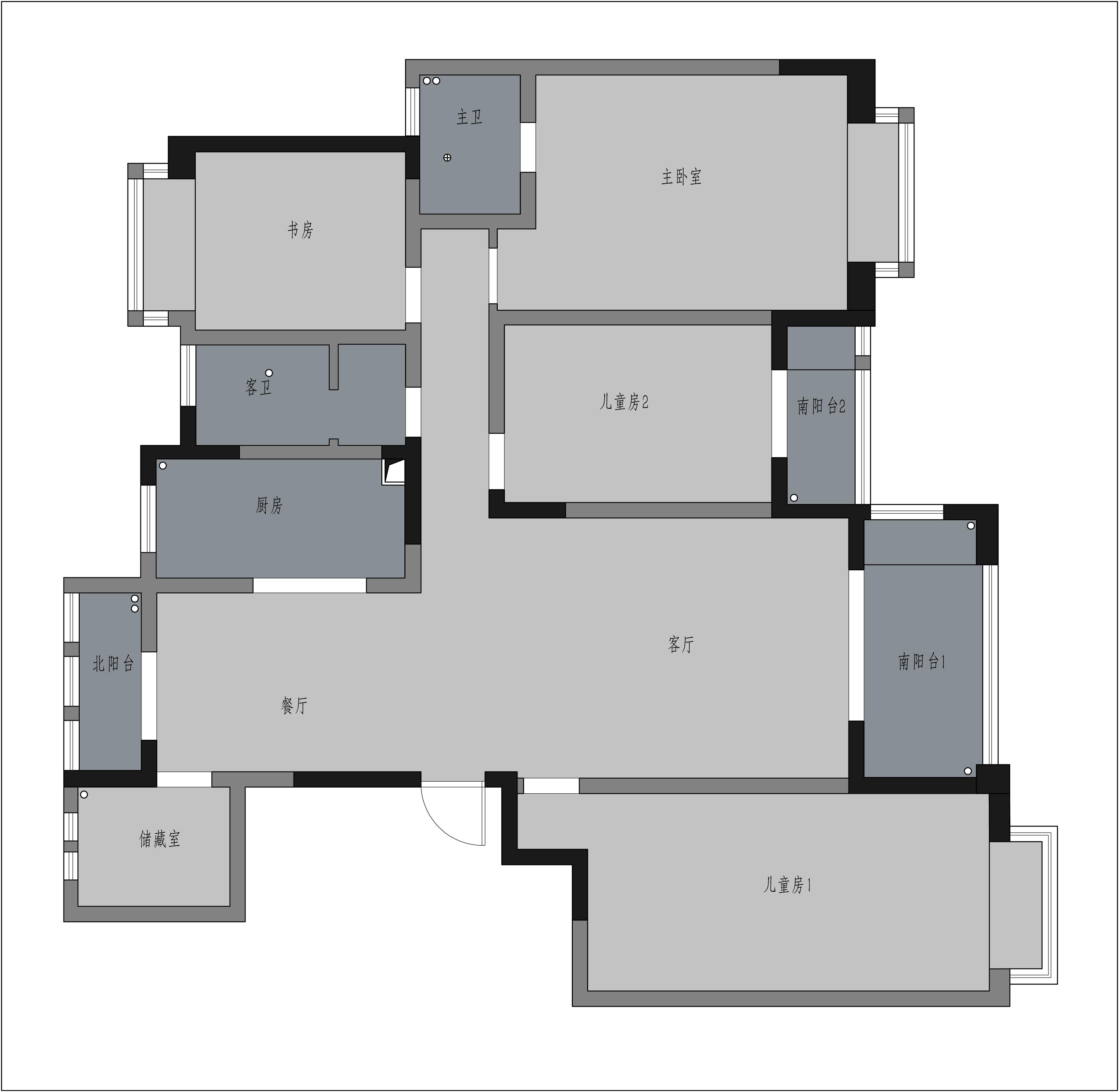 锦绣淮苑-160平米-现代简约风格-三室两厅装修效果图装修设计理念