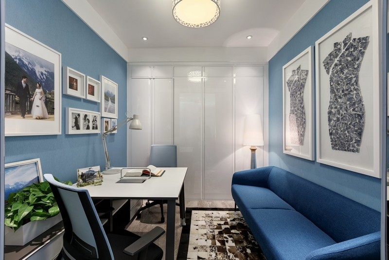 95平米小三室装修-书房