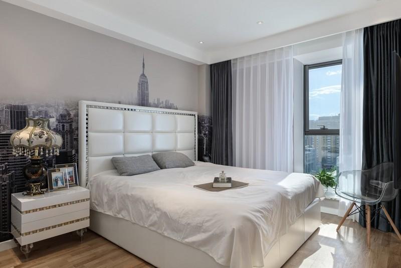 95平米小三室装修-卧室