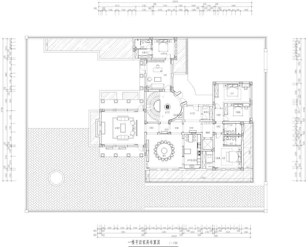 金地澜菲溪岸欧式双拼别墅1100平米装修效果图装修设计理念
