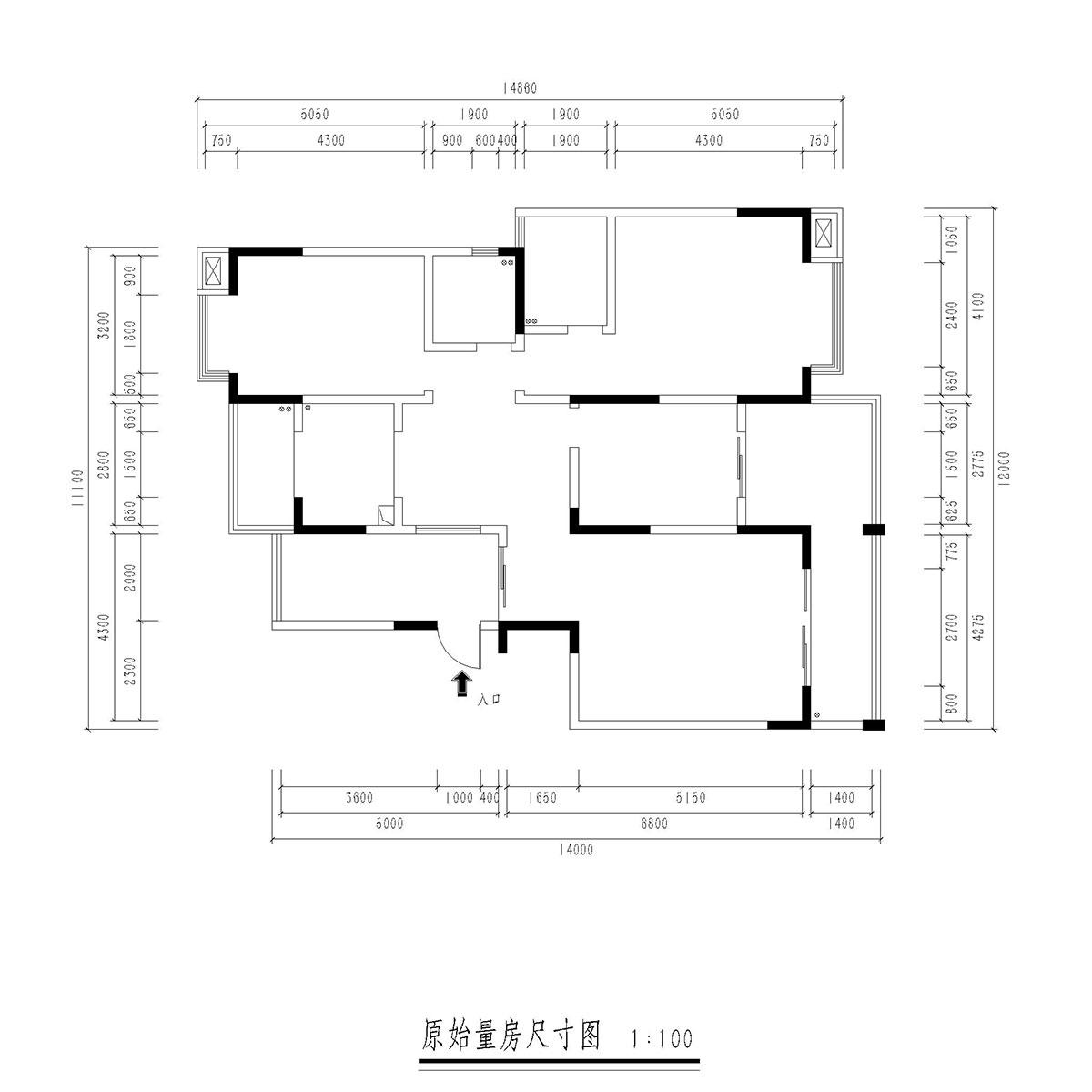 后现代风格装修效果图丨世纪山江145㎡三居装修案例装修设计理念